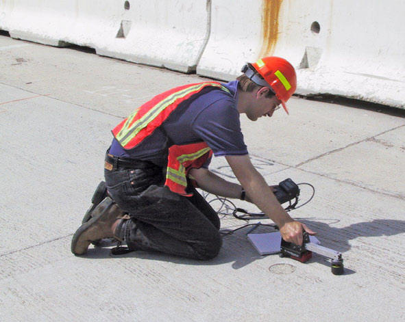 Concrete thickness measurement